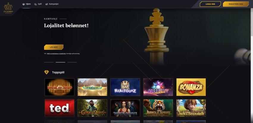 21 Casino Skjermbilde
