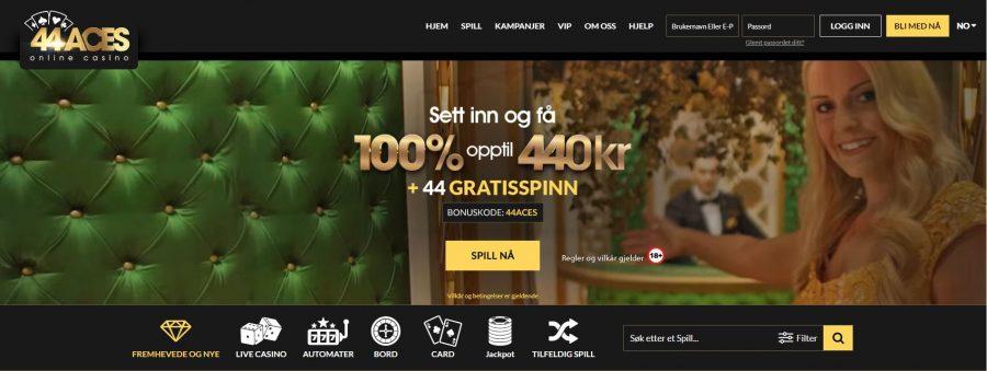 44Aces Casino Skjermbilde