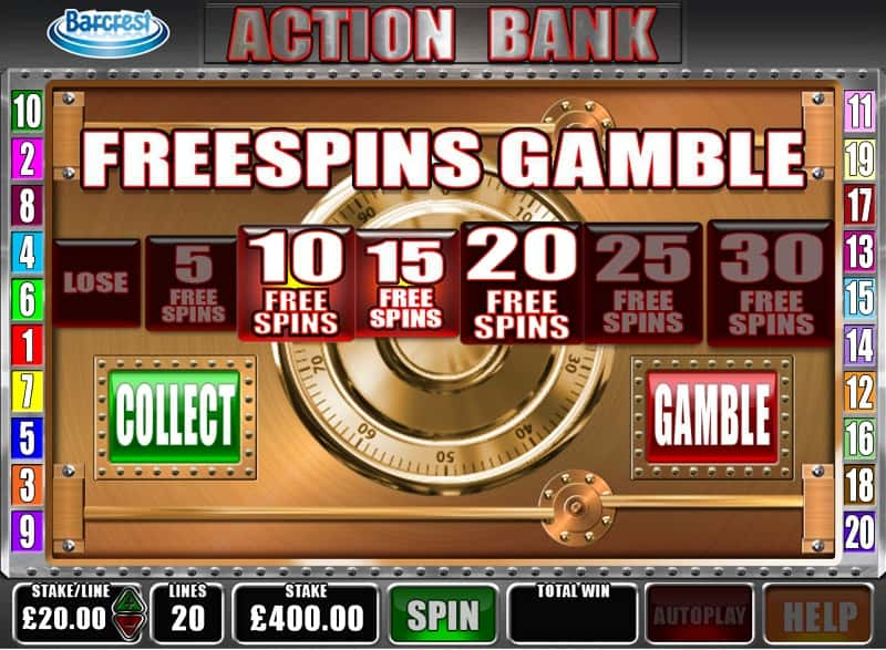 Action Bank free spins