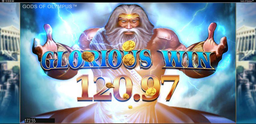 Gods of Olympus Big Win