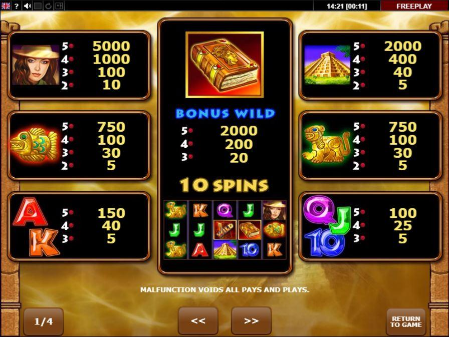 Book of Aztec Free Spins Bob Casino