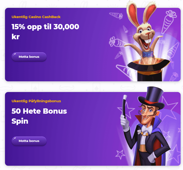 Cadabrus Casino Norge kampanjer