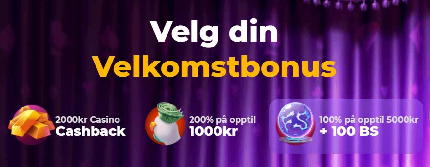 Cadabrus Casino Norge velkomstbonus