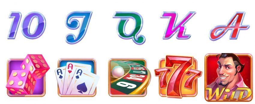 Casino on the House Symbols