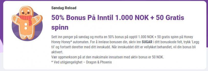 Cookie Casino Reload Bonus