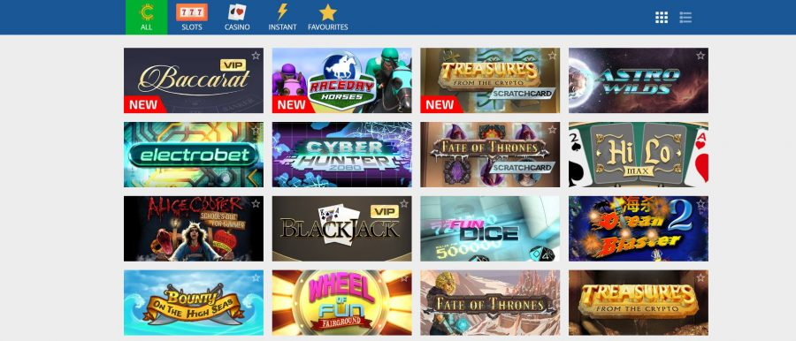 Crypto Casino Games Spill