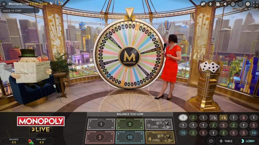 Evolution Monopoly Live Casino