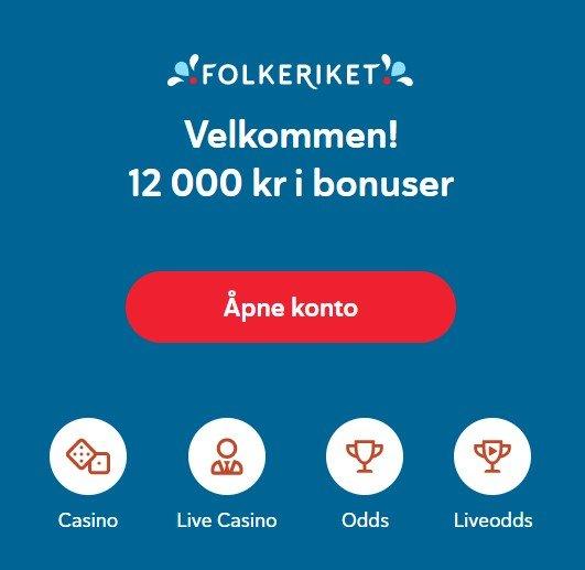 Folkeriket casino bonus