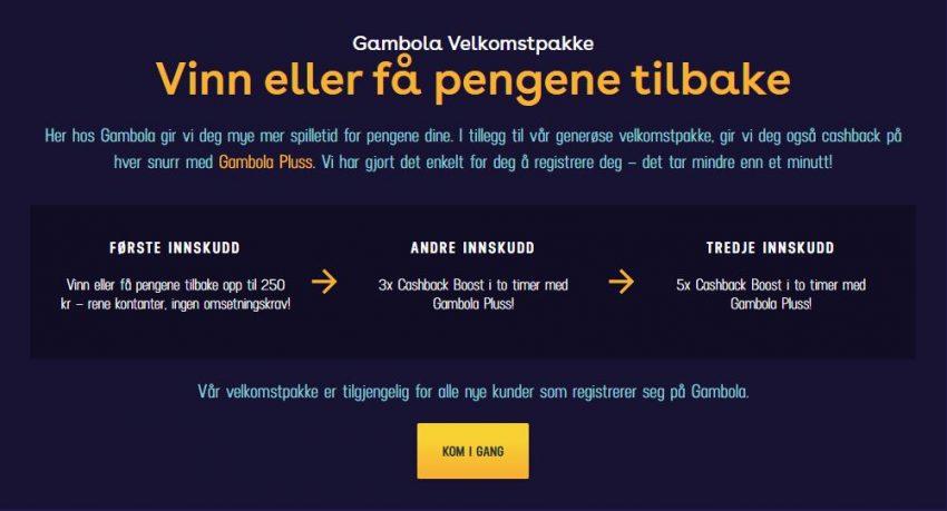 Gambola Casino Bonus