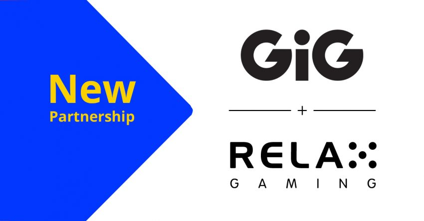 GiG Relax Gaming New Partnership