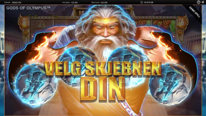 Gods of Olympus Bonus Pick