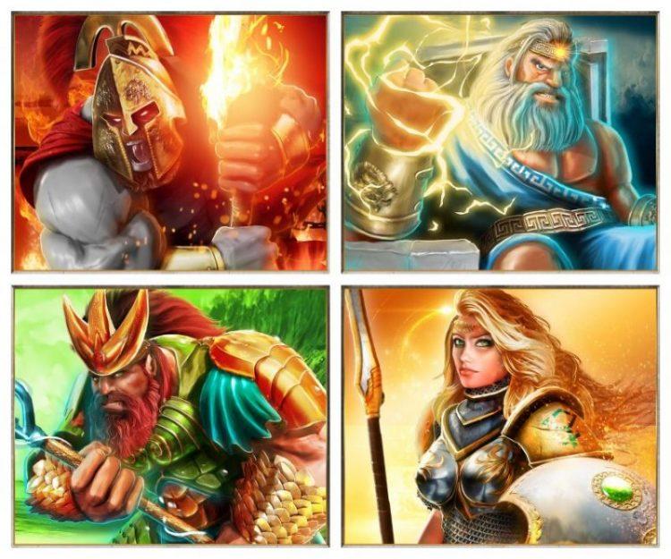 Gods of Olympus Symbols Collage Blueprint Gaming