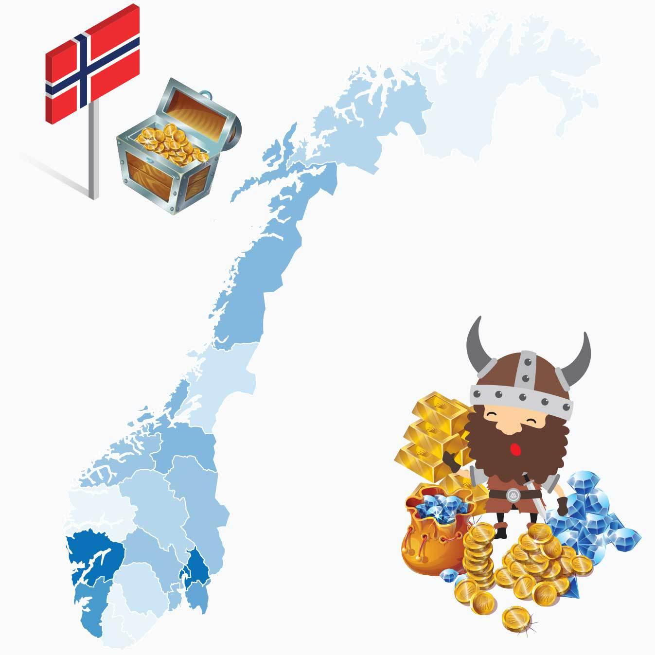 Kart over hvem som vinner mest i pengespill i Norge