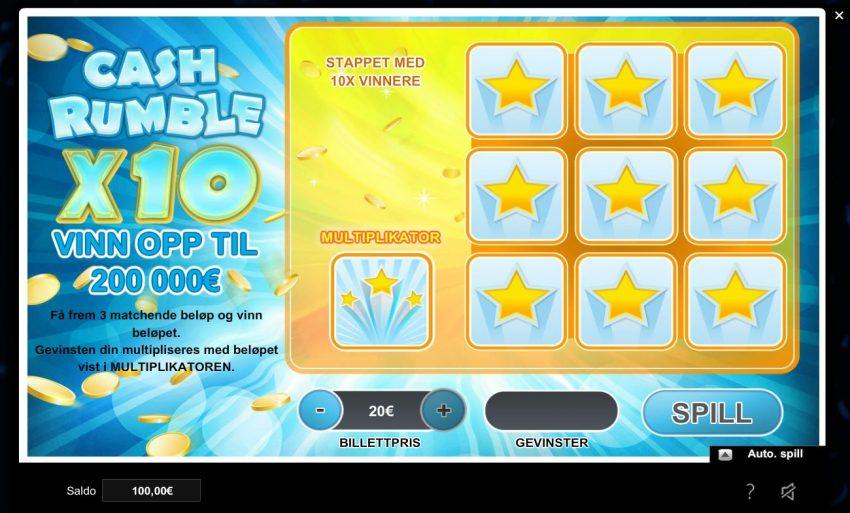 Greenplay Casino Cash Rumble Skrapelodd