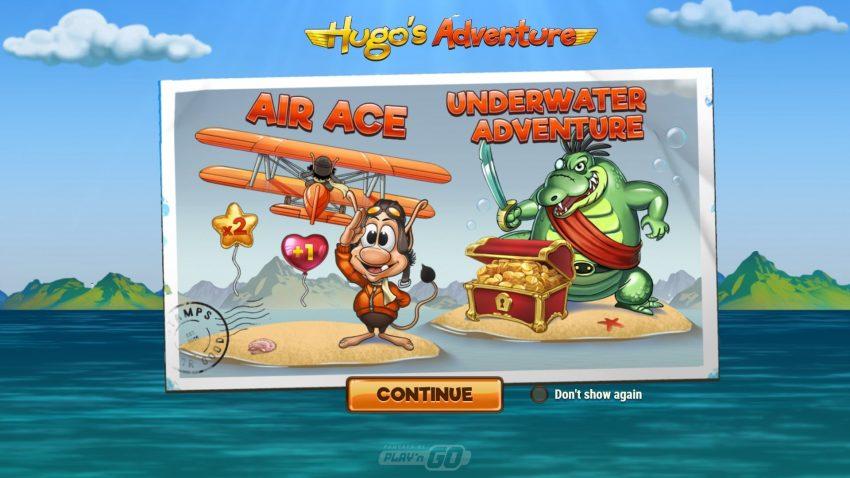 Hugos Adventure Play N Go Intro Screen