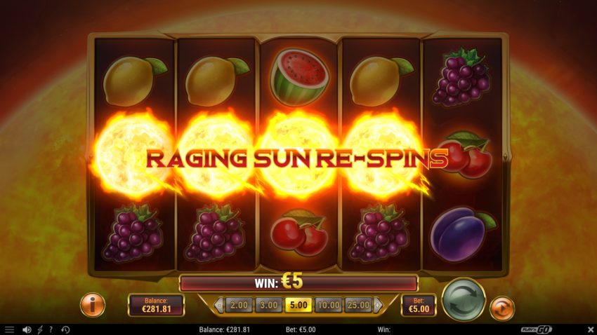 Inferno Star Play N Go Raging Sun Re Spins