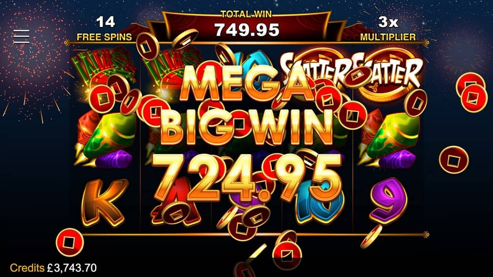 Lucky firecracker big win