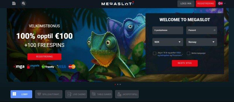 MegaSlot casino velkomstbonus