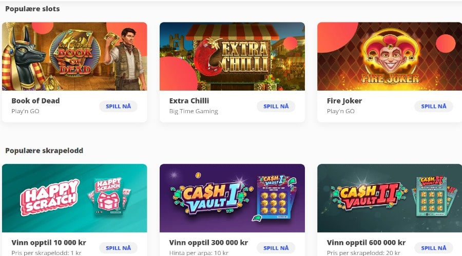 Megalotto casino games