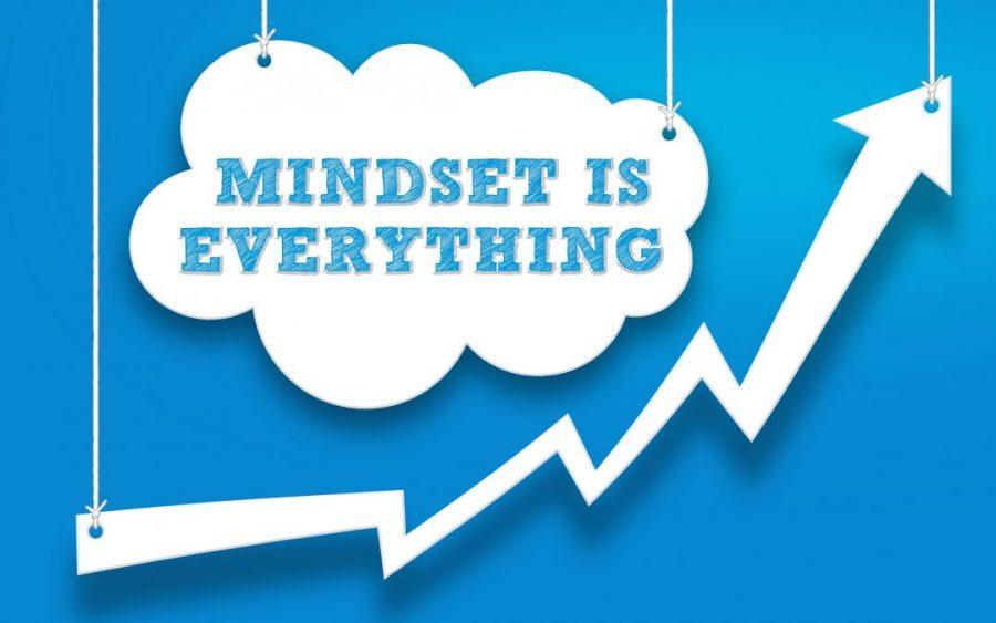Mindset is Everything Arrow Pointing Upwards Upwards Trend
