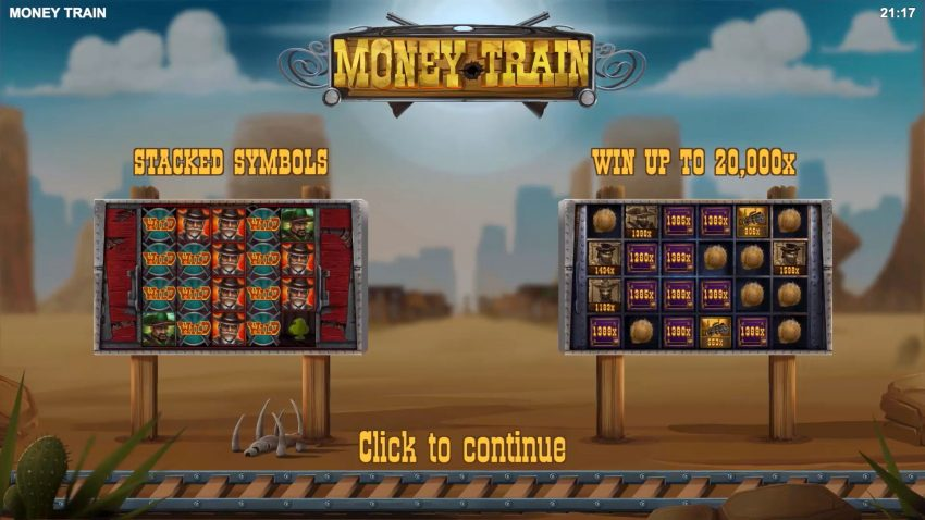 Money Train Relax Gaming Intro Screen