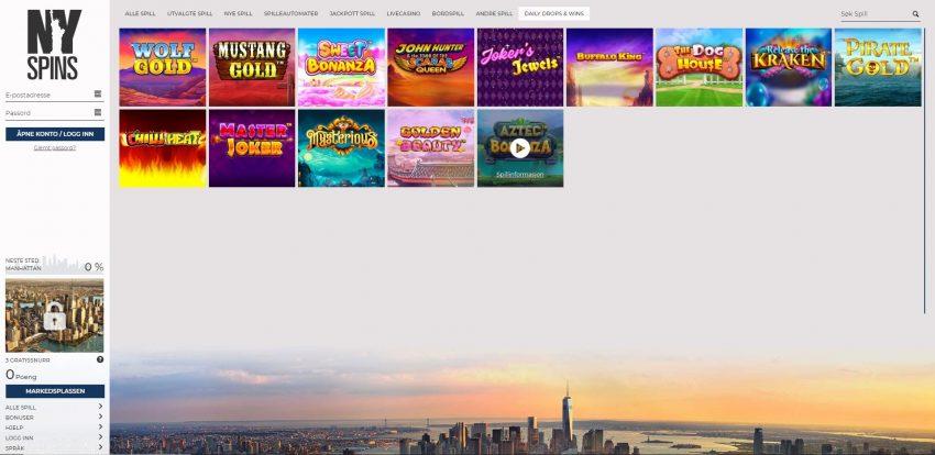 NYSpins Casino Design