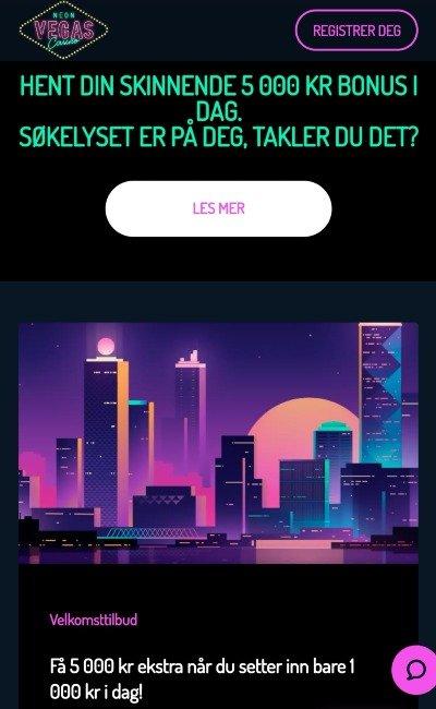 NeonVegas velkomstbonus