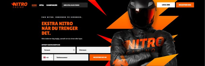 Nitro Casino Banner