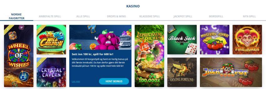 NorgesSpill Casino Spill