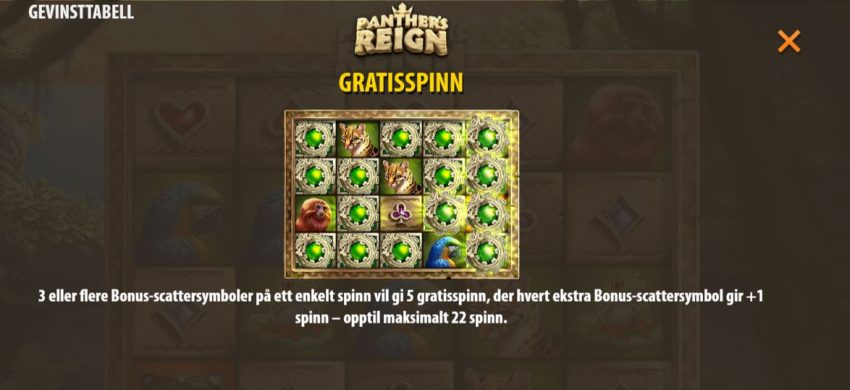 Panthers Reign Freespins