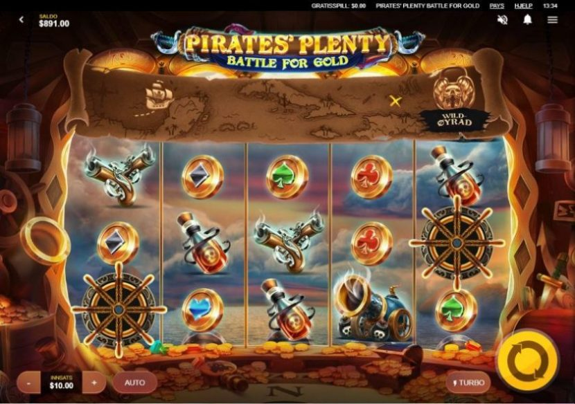 Pirates Plenty Battle for Gold Design Red Tiger Gaming