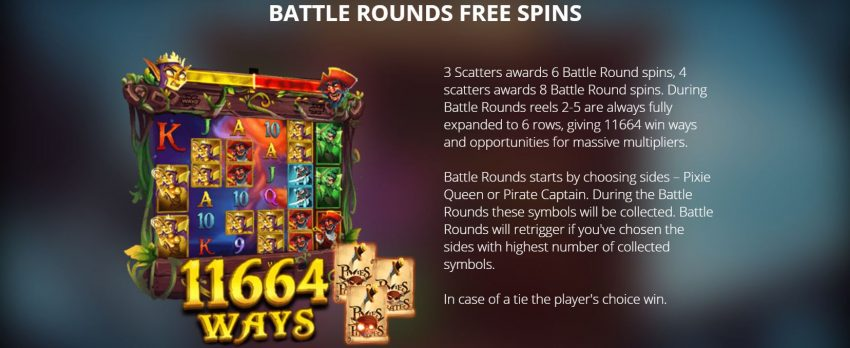 Pixies vs Pirates Freespins