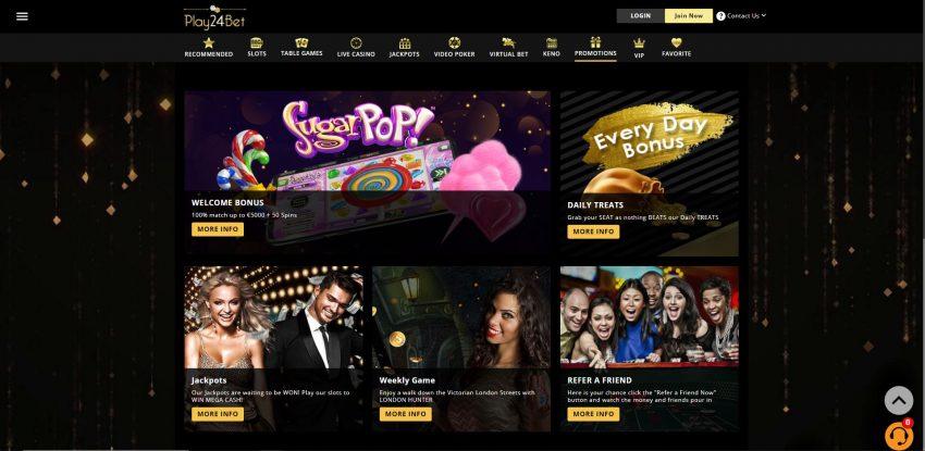 Play24Bet Casino Design