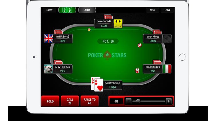 Spill PokerStars på din mobiltelefon.