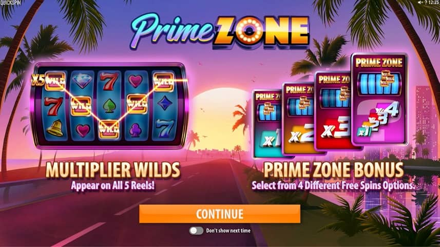 Prime Zone splash screen