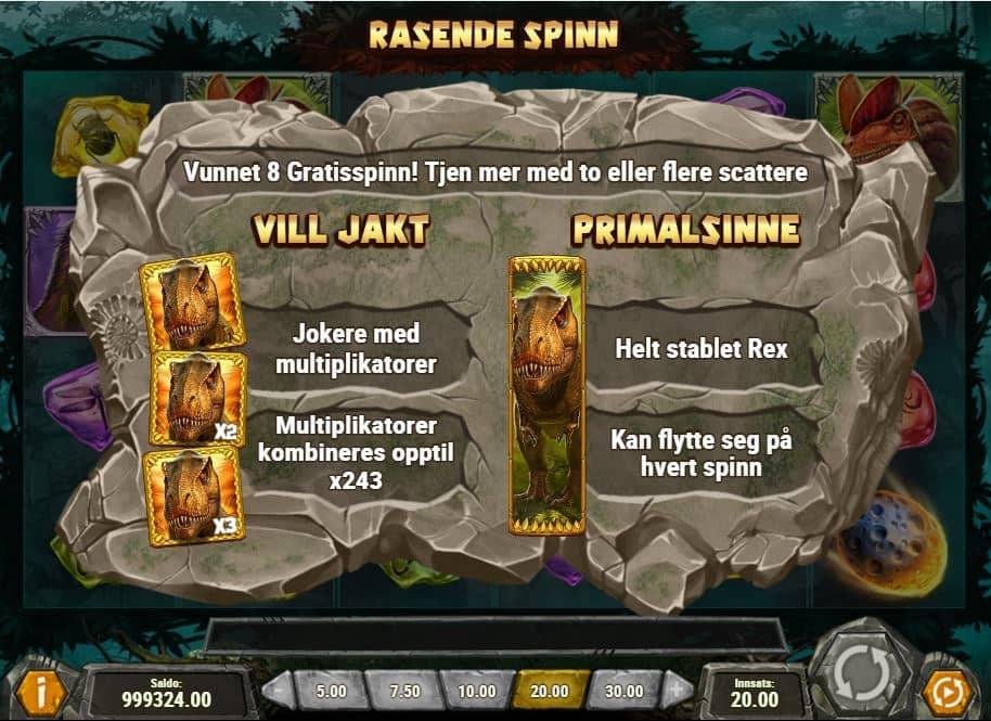 Raging Rex Free Spins