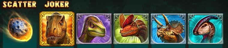 Raging Rex Symboler