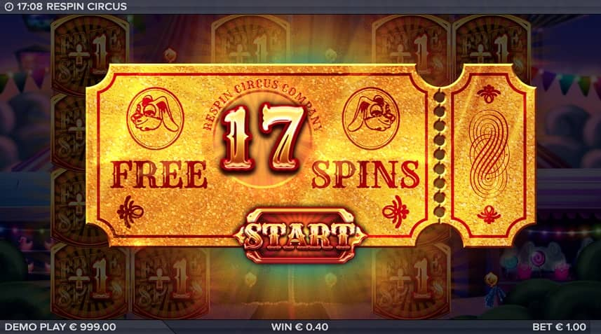 respin circus free spins
