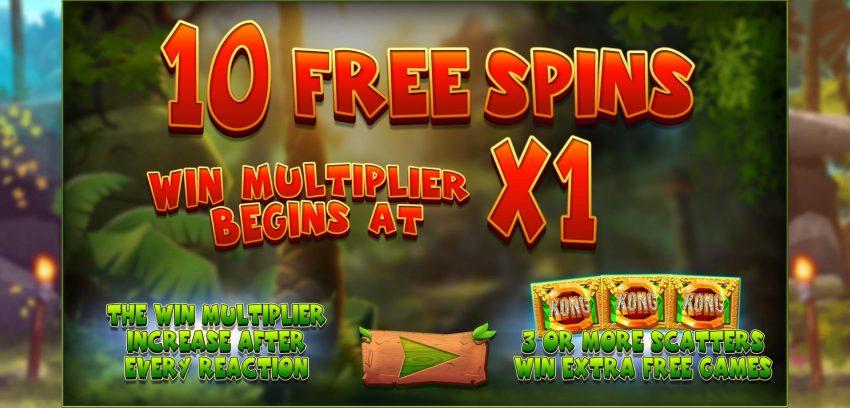 Return of Kong Blueprint Gaming Freespins Bonus