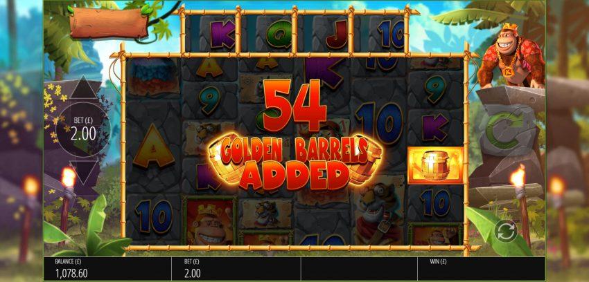 Return of Kong Blueprint Gaming Golden Barrels Bonus