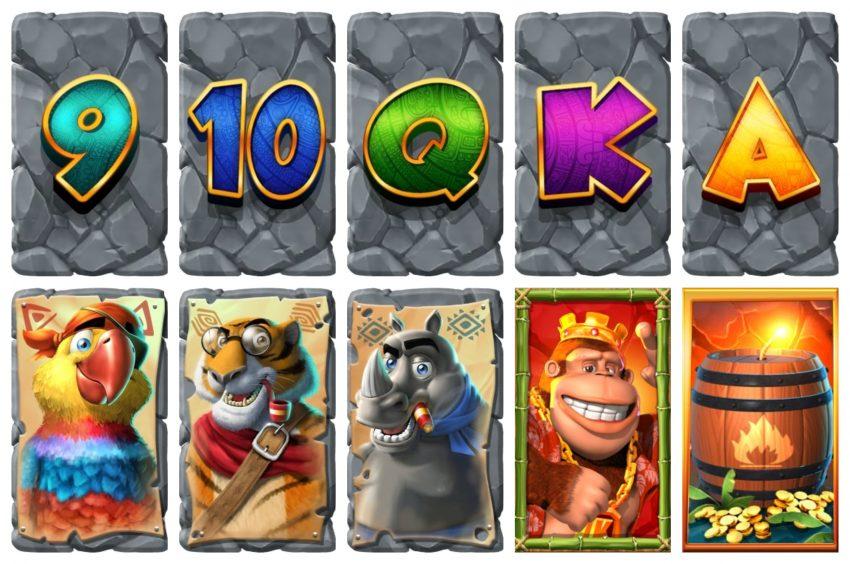 Return of Kong Symbols Blueprint Gaming Collage