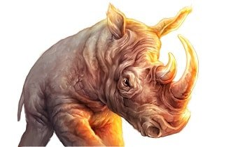 Raging Rhino neshorn stor