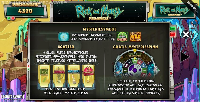 Rick and Morty Freespins