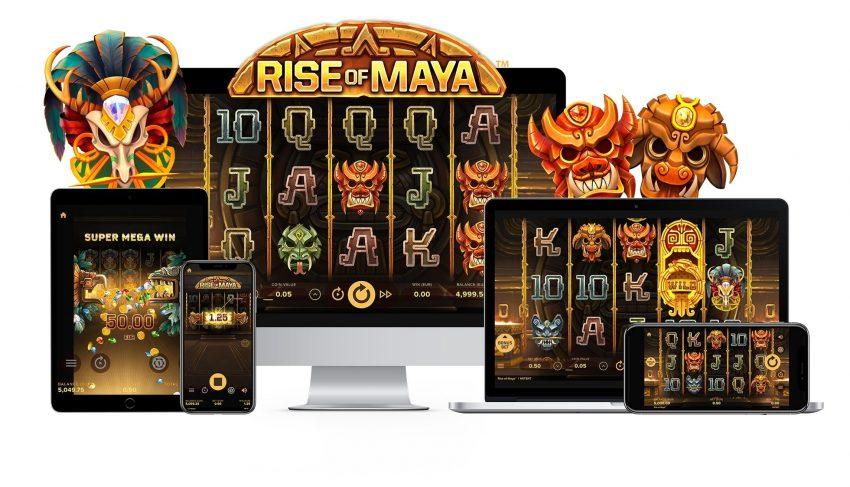 Rise of Maya NetEnt Banner