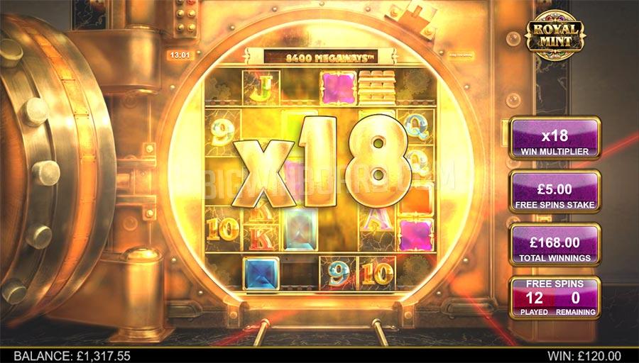 Royal Mint Megaways Big Win