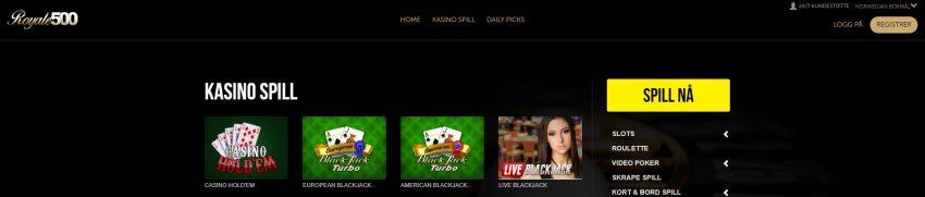 Royale500 Casino Design