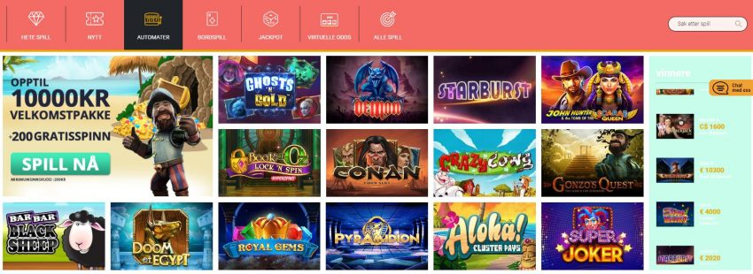Slotanza Casino Games