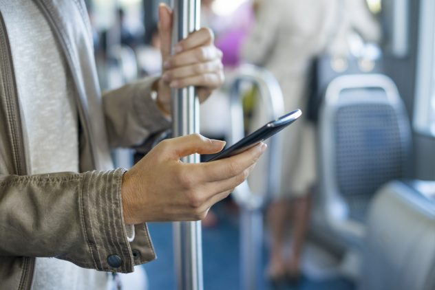 Smart Phone on Bus