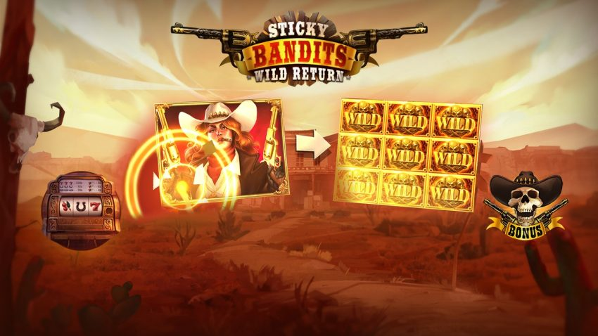 Sticky Bandits Wild Return Splash Screen Quickspin