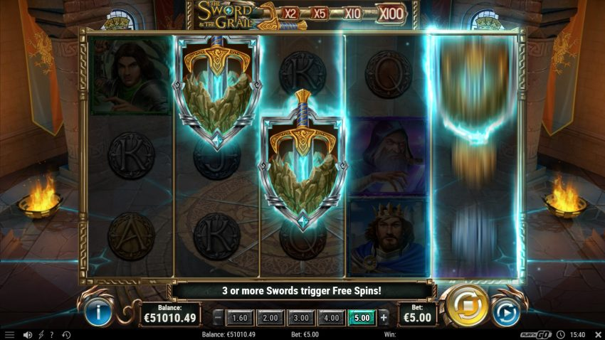 Sword and the Grail Freespins Play N Go Bonus